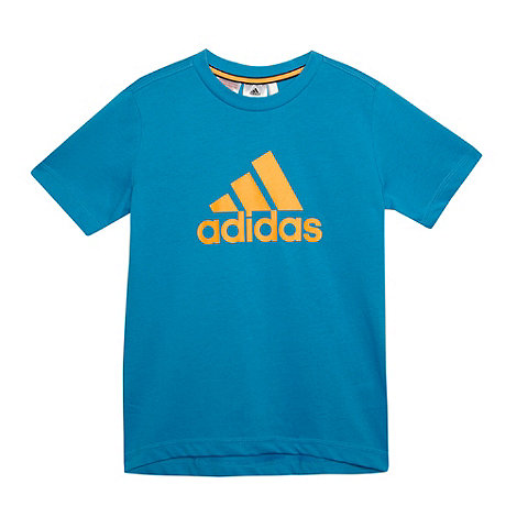 adidas - Boy+s blue logo t-shirt