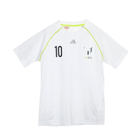 adidas - Boy+s white +Messi+ t-shirt
