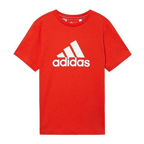 adidas - Boy+s dark orange logo t-shirt