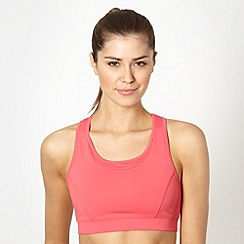 XPG by Jenni Falconer - Coral meshed racer back sports bra