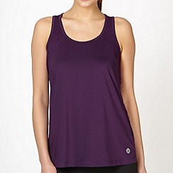 XPG by Jenni Falconer - Dark purple perforated panel vest