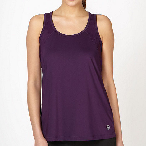 XPG by Jenni Falconer - Dark purple perforated panel vest