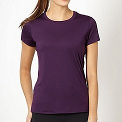 XPG by Jenni Falconer - Purple stitch crew neck t-shirt