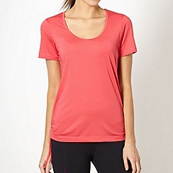 XPG by Jenni Falconer - Coral striped tie side performance t-shirt