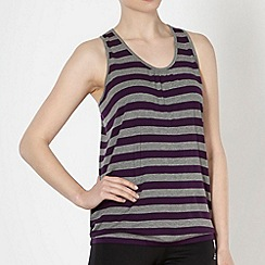 XPG by Jenni Falconer - Dark purple striped fitness vest