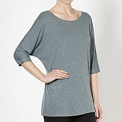 XPG by Jenni Falconer - Dark turquoise striped loose fit t-shirt