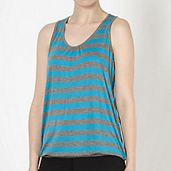 XPG by Jenni Falconer - Dark turquoise striped fitness vest