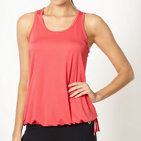 XPG by Jenni Falconer - Coral striped tie side performance vest