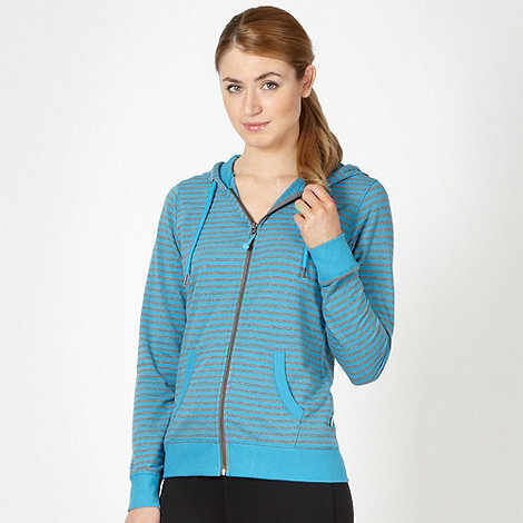 XPG by Jenni Falconer - Turquoise striped fitness hoodie