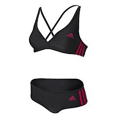 adidas - Dark grey 'Authentic' two-piece bikini