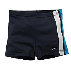 Speedo - Navy 'Endurance Saber' splice aquashorts