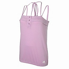 adidas - Pink cross over strap vest