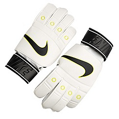 Nike - White 'Tiempo' match goalie gloves