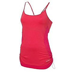 Reebok - Bright pink 'On the move' rib tank top