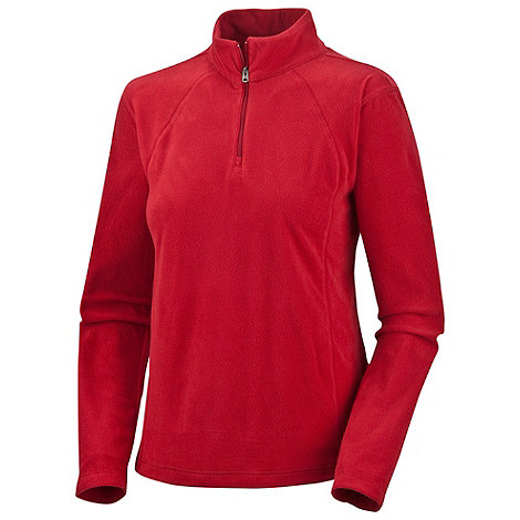 Columbia - Red Glacial lightweight fleece zip top