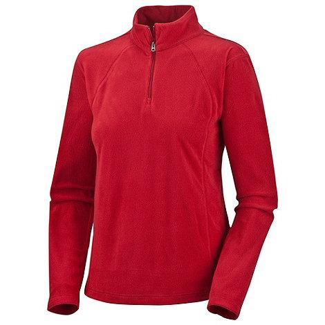 Columbia - Red Glacial lightweight fleece zip top