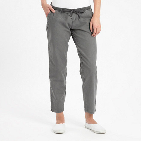 Roxy - Grey linen mix trousers