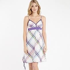 Protest - White multicolour check dress