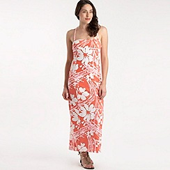 Roxy - Peach poppy print maxi dress