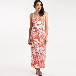 Roxy - Peach poppy print maxi dress