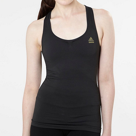 adidas - Black fine ribbed tank top
