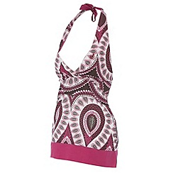Protest - Dark pink printed halter neck top