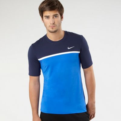 Blue Challenger Crew Neck T-shirt