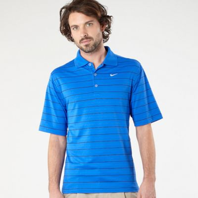 Blue Core Striped Polo Shirt
