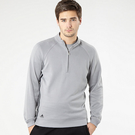 adidas golf - Grey three stripes funnel neck sweatshirt