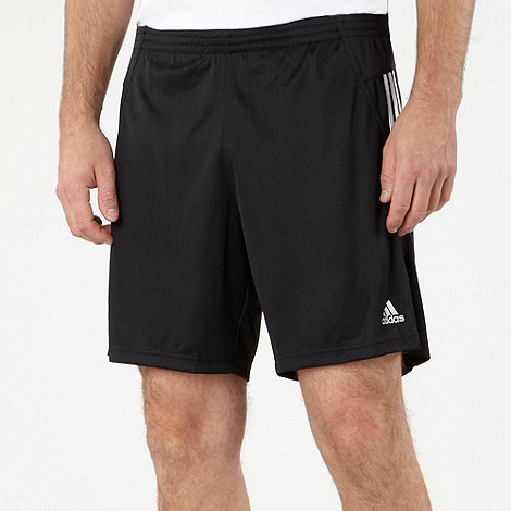 adidas - Black panelled training shorts