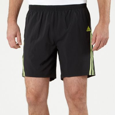 Black High Visibility Stripe Running Shorts