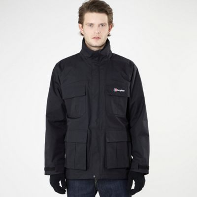Black parka shell jacket