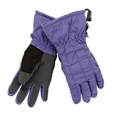 Purple 'Farah 11' ski gloves