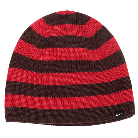 Nike - Pink striped beanie hat