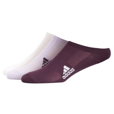 Adidas Pack of three purple sports socks