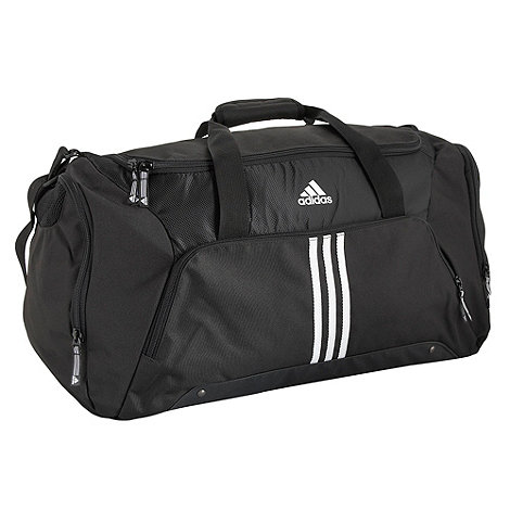 adidas - Black essential 3 stripe holdall