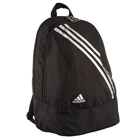 adidas - Black diagonal stripe backpack