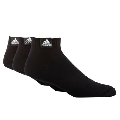 Adidas Pack of three black ankle socks