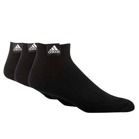 adidas - Pack of three black ankle socks