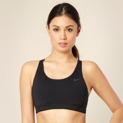 Nike Black adjustable back sports bra