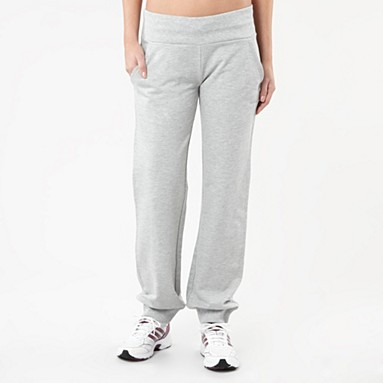 Grey cuffed jogging bottoms