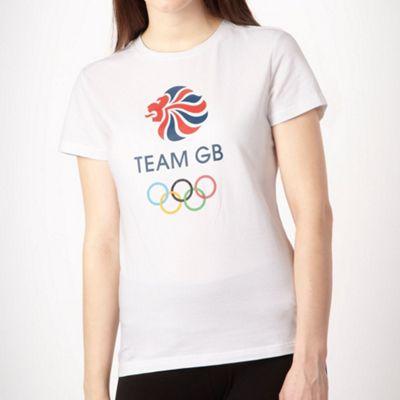 White slim fit Team GB t-shirt