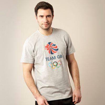 Grey Team GB print t-shirt