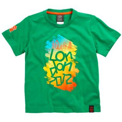Boys green London 2012 sketch t-shirt