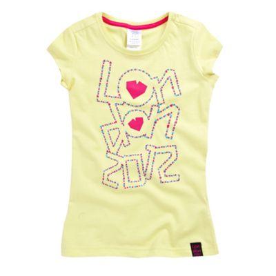 Girls yellow London 2012 t-shirt