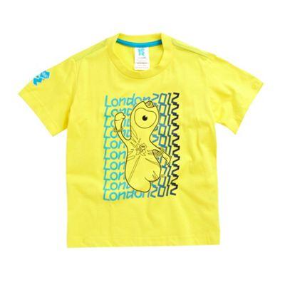 Boys yellow London 2012 t-shirt