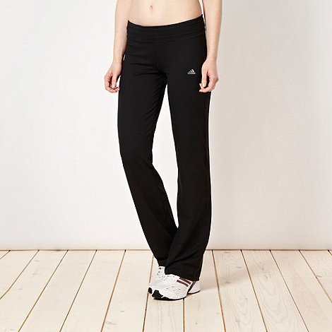 adidas - Black slim fit training trousers