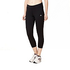 adidas - Black tight fitting 3/4 length trousers