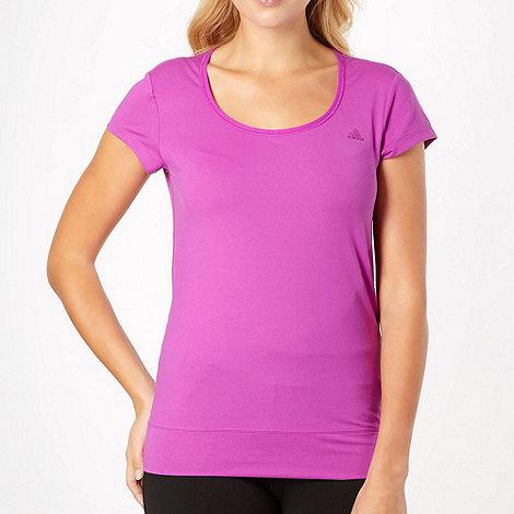 adidas - Purple +Essential+ scoop neck t-shirt