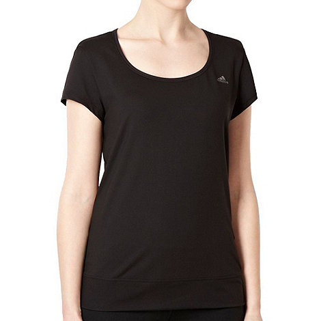 adidas - Black scoop neck training top